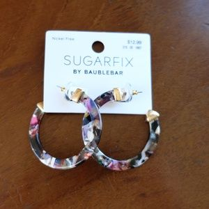SUGARFIX by BaubleBar Resin Hoop Earrings NWT